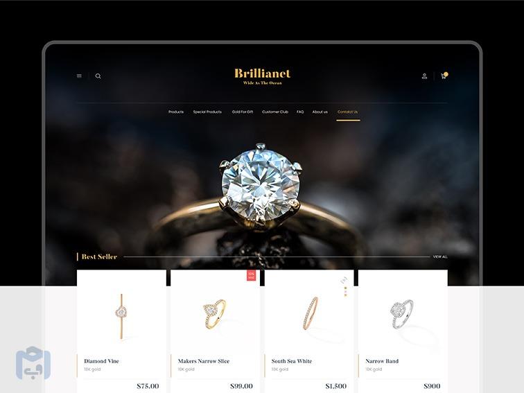 طراحی وب سایت طلا و جواهر